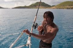 Op de catamaran, St Maarten